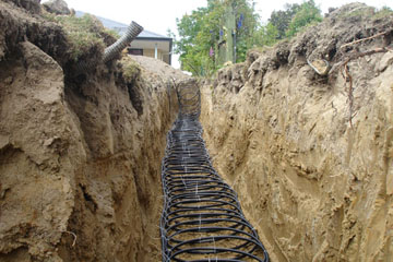 Geothermal Ground Source Horizontal Slinky Loop Install