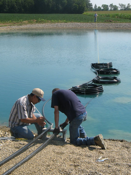 Geothermal sullivan alliance for sustainable development for Pond installation