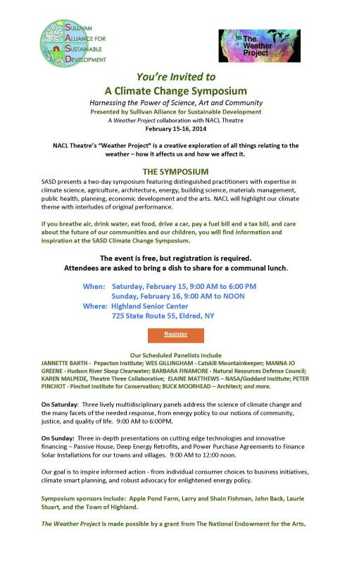 Climate Change Symposium invite for SASD web