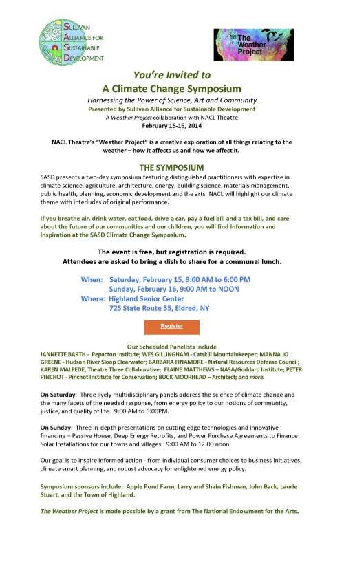 Climate Change Symposium invite for SASD web