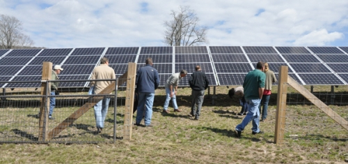 Solar array at the Homestead School in Glen Spey